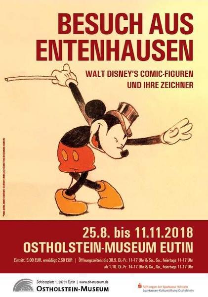 Besuch aus Entenhausen - Plakat Ausstellung Eutin 2018