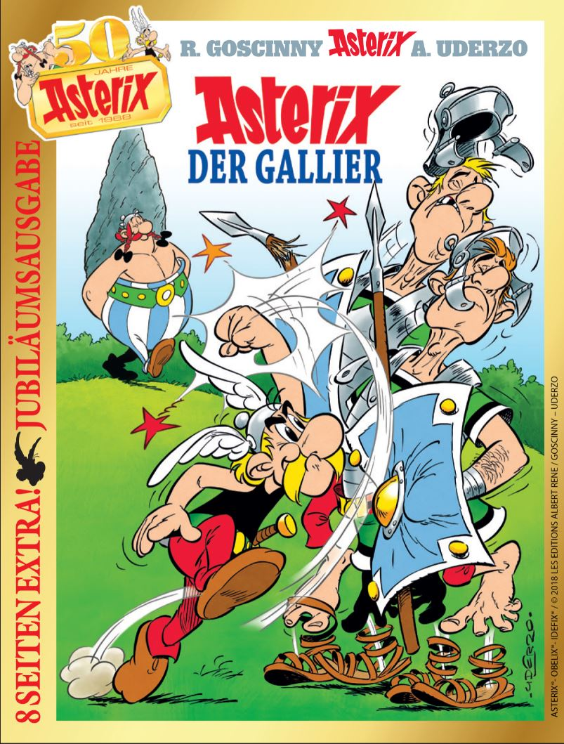 Cover Jubilaeumsausgabe Asterix der Gallier