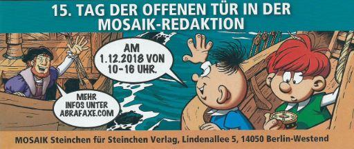 Einladung zum Tag der offenen Tür bei Mosaik 2018