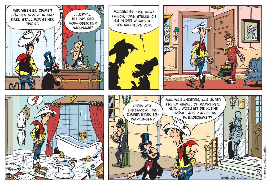 Detail Lucky Luke 97 page 28