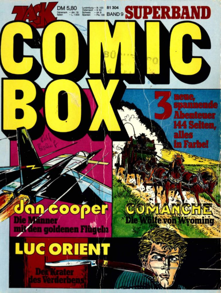 Cover Zack Comic Box 9