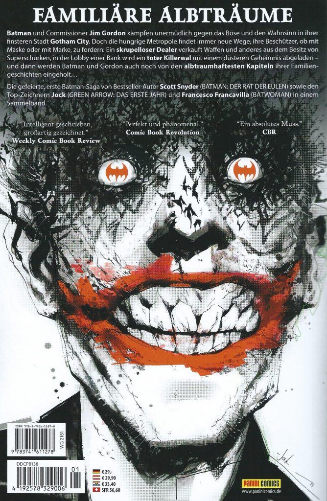 Backcover Batman - Der Schwarze spiegel