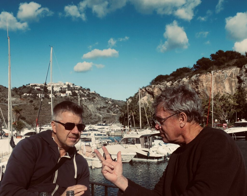 Marc Legendre and Charel Cambré at the harbour