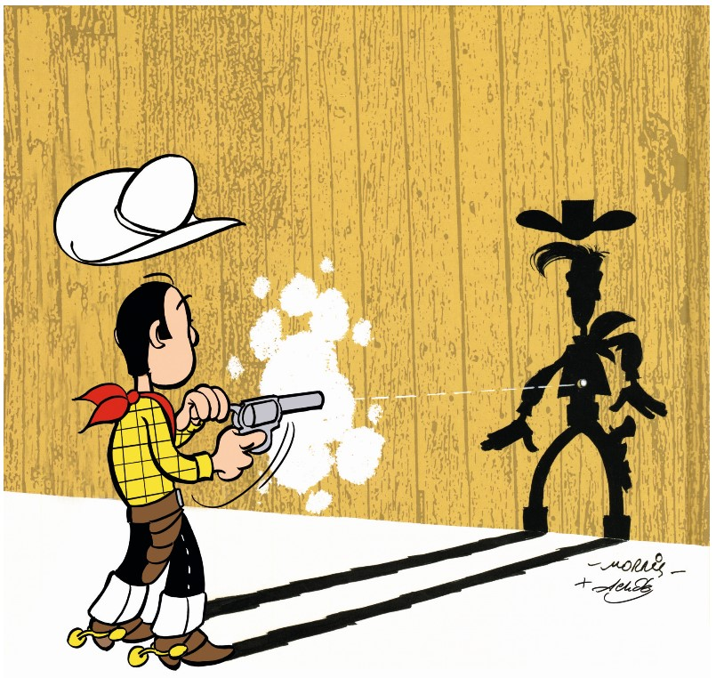 Back-Illustration Lucky Luke 100